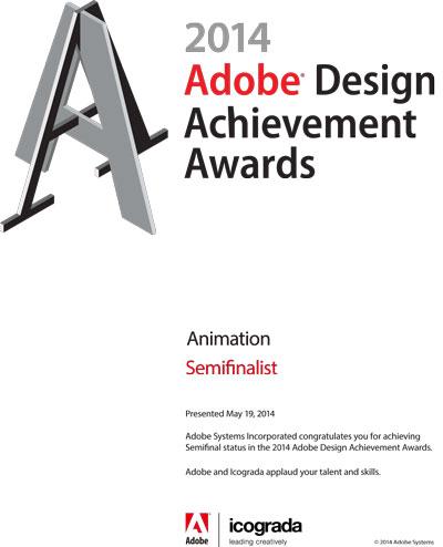 2014 Adobe Design Achievement Awards Semifinalist