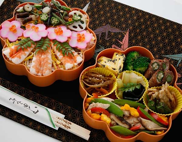 お花見弁当-ちらし寿司アレンジ