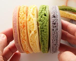 虹色のホットケーキ♪