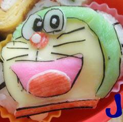JJさんの投稿お弁当-ドラえもん