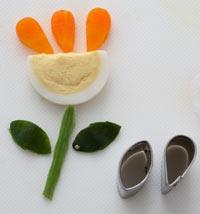 花束 野菜 飾り切り