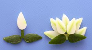 花束 野菜とかまぼこ 飾り切り