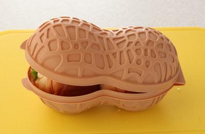 ピーナツ型のお弁当箱