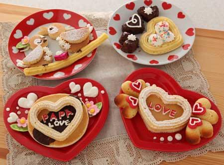 ホットケーキでバレンタイン パパにプレゼント!