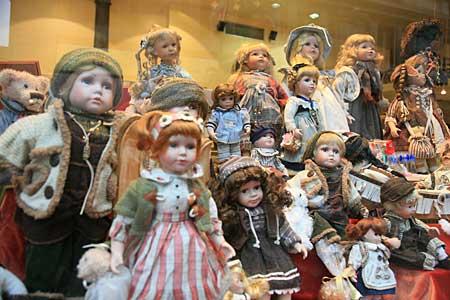 ミラノのお店 お人形