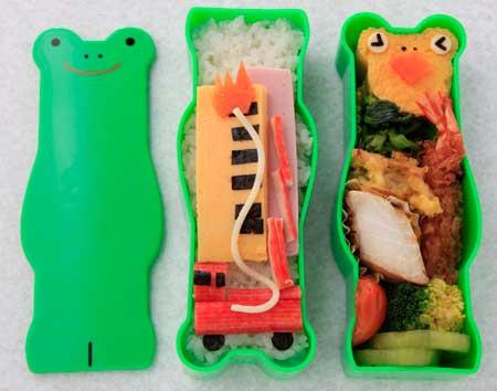 お気に入りのお弁当箱2-カエル君が消防士に?