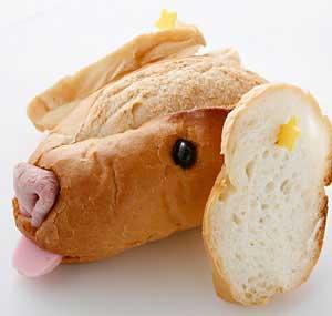 フランスパンでゴールデンレトリバーをつくる