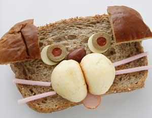 麦パンでブルドックをつくる