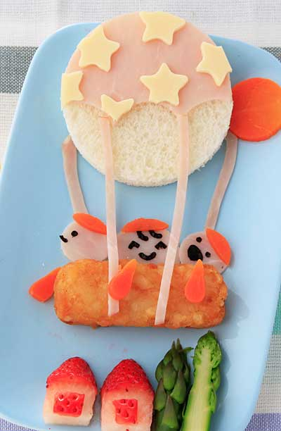 パンで気球のランチ