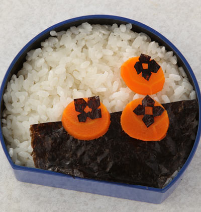 かんたん海苔弁お絵かき-柿弁当