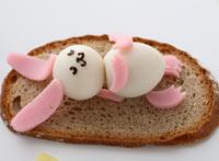 うさぎのお昼ね-うずらの卵-飾り切り