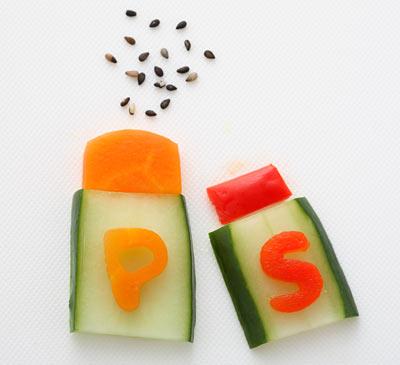 ペッパー&ソルトー-野菜 飾り切り