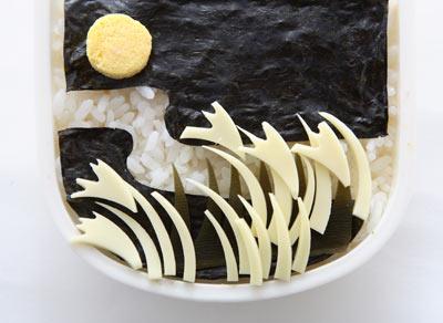 海苔弁でお月見弁当