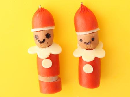 ウィンナー飾り切り サンタクロース