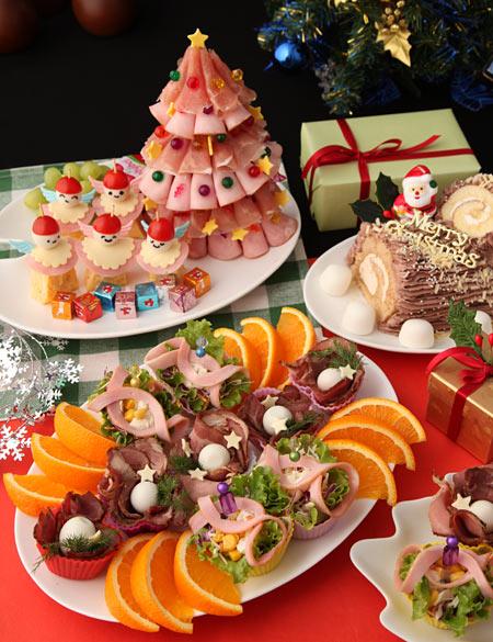 クリスマスパーティのオードブル