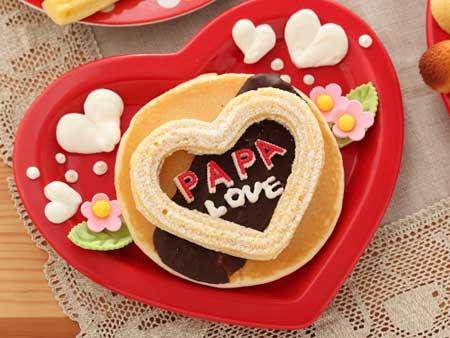 パパにホットケーキでバレンタイン