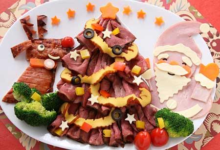 トナカイとサンタさんのクリスマスオードブル