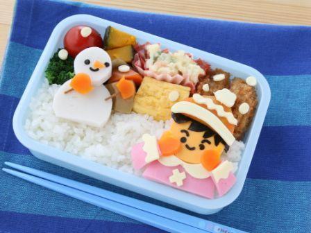 雪の日のお弁当