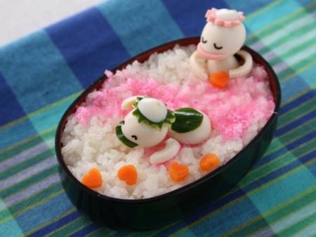 河童(かっぱ)の作り方 - うずらの卵飾り切り