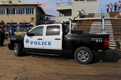 サンタモニカピアのパトカー