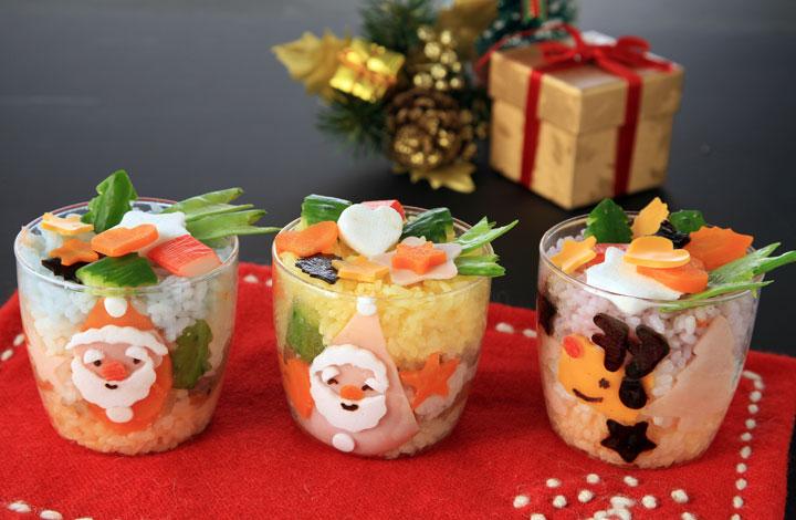 クリスマスのカップケーキ風ごはん